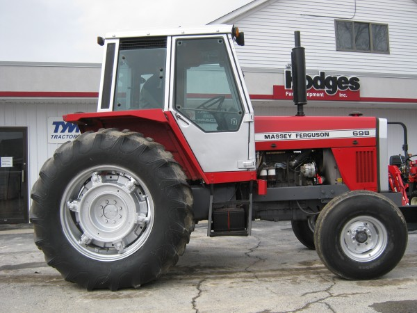 Used MF 698 Cab Tractor- 2WD