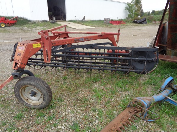 Used 5 Bar Rake w/ Dolly wheel