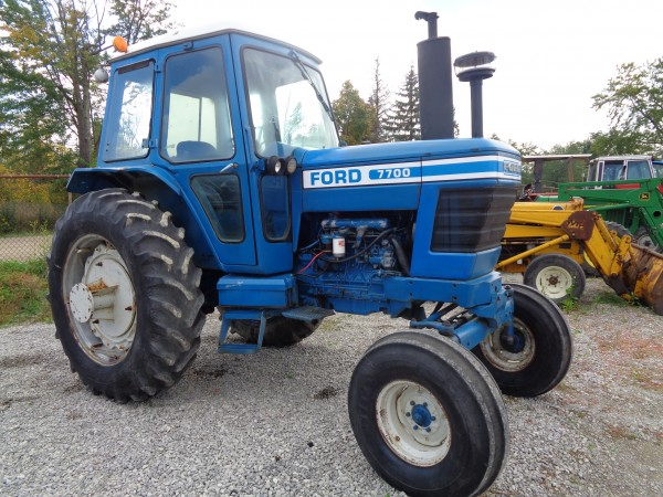 Used Ford 7700 Cab Tractor- 2WD