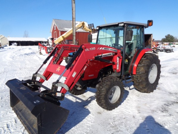 Used MF 1655 Cab Tractor w/ Loader- 4WD